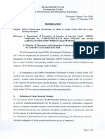 Public Procurement-preference to Make in India-Order 2019 for Cyber Security Products