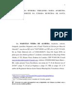 Denúncia Marcelo Almeida falta de decorro parlamentar oficial