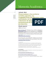 Lattuada, Mario - El peronismo y los sectores sociales agrarios. La resignificación del discurso como articulador de los cambios en las relaciones de dominación y la permanencia de.pdf
