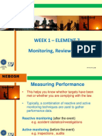 Week 1 Elem 7 ( Monitoring, reviewing and auditing)