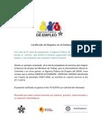Certificado Sena Agencia DANNA
