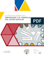 Guía estretagias prevención y abordaje acoso escolar