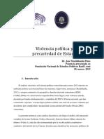 Violencia Política y Precariedad de Estado_Dr. José Machillanda