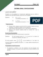 Sistema Lineal De Ecuaciones