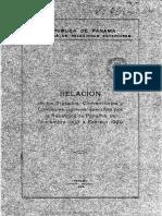 Relacion de Los Tratados 1929