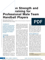 In-Season Strength and Power Training for Professional Male Team Handball Players