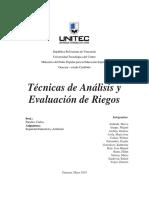 Teìcnicas de Anaìlisis y Evaluacioìn de Riesgos