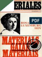 Materiales, n 3, 1977 - Rosa Luxemburg hoy