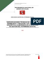 Especificaciones Tecnicas de Plano Perimetrico