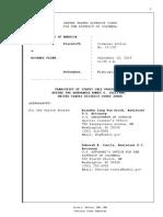 Court transcript - FLYNN