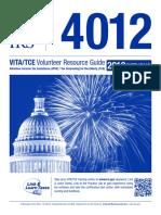 Pub 4012 VITA Volunteer Resource Guide 2019 Returns