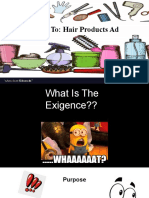 how to  hair products ad