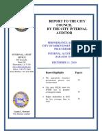 Final Report- Audit of City of Shreveport Insurance Procurement