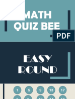 Math Quiz Bee