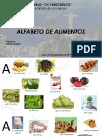Alfabeto de alimentos - K&R