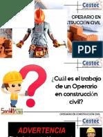 OPERARIO DE CONSTRUCCIÓN CIVIL