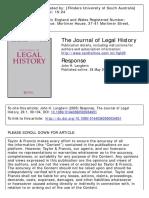 The Journal of Legal History Volume 26 issue 1 2005 [doi 10.1080%2F01440360500034651] Langbein, John H. -- Response.pdf