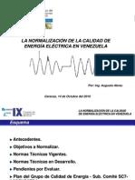 Normalizacion de La Calidad de Energia en Venezuela (Presentación)
