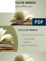 style of speech