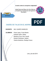 Diseño de Talud - Morro Solar