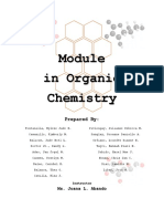 Module in Organic Chemistry by Bse-III Physical Science Majors