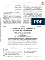 An Evaluation of Ablation Mechanisms for the Apollo Heat Shield Material