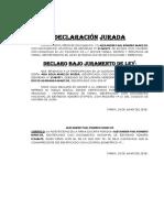 DECLARACIÓN JURADA RENUNCIA HERENCIA ROMERO MARCOS
