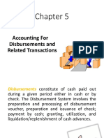 Accounting for Disbursements and Related Transactions