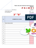 3° B PERIODO 1,2,3 CALIFICACION Cesar Benavides
