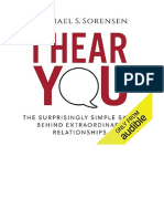 [2017] I Hear You by Michael S. Sorensen | The Surprisingly Simple Skill Behind Extraordinary Relationships | Autumn Creek Press