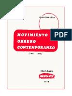 El movimiento Obrero Contemporaneo Guillermo Lora