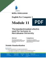 Modul English for Computer I [TM12]