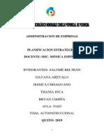 Administracion de Empresas Planificacion Estrategica