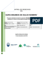Ficha Tecnica Sobre Control de Desechos- Agroinsumos de Dulce Nombre