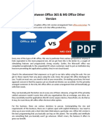 Difference Between MS Office 365 & Other Version - Office.com/setup