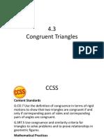 Congruent triangle