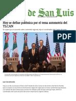 Hoy se define polémica por el tema automotriz del TLCAN - El Sol de San Luis.pdf