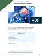 La genética del comportamiento, conceptos básicos