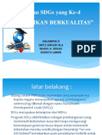 Tujuan SDGs Yang Ke-4)