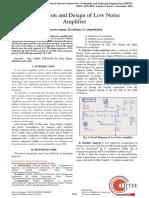 Simulation and Design of Low Noise Amplifier- V9 Nov2019