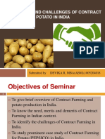 Prospects and challenges of contract farming for potato in India