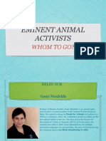 Animal activists PPT