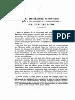 La Littérature Patristique Des 'Quaestiones Et Responsiones' Sur l'Écriture Sainte -  Bardy, Gustave. Source- Revue Biblique, 41 No 2 1932, p 210-235