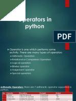 Operators in Python