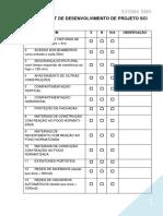 Check List de Desenvolvimento de Projeto Sci