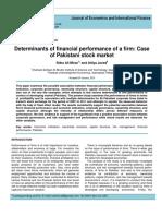 Financial preformance of a firm