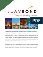 TravBond Reviews Provides Best Honeymoon Packages in Australia