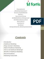 Marketing Fortis Final Presentation.