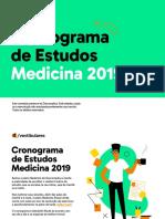 Cronograma de Estudos Medicina 2019