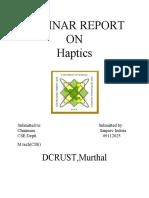 Final Report on Haptics
